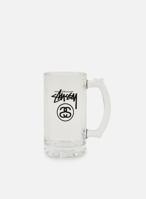 accessori stussy stock lock beer mug glass