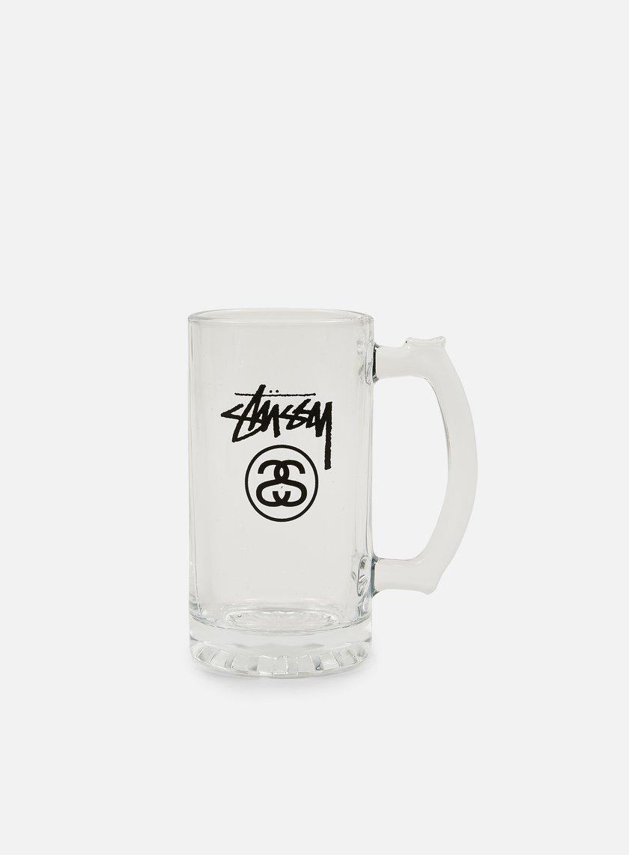 Stussy Stock Lock Beer Mug Glass