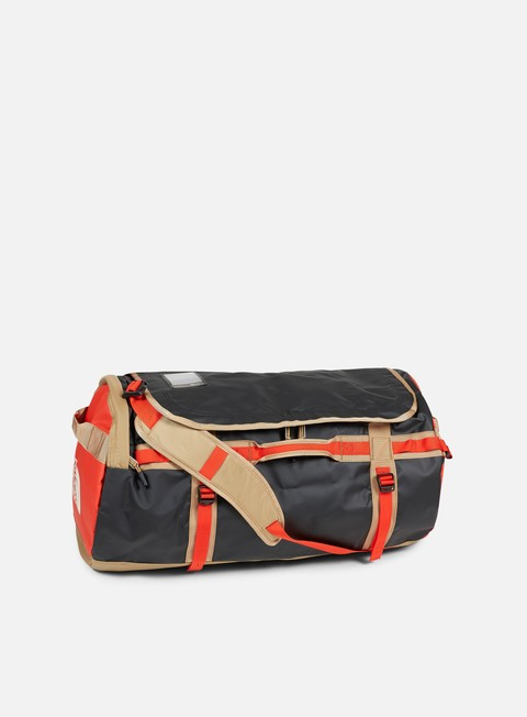 accessori the north face base camp duffel large fiery red tnf black