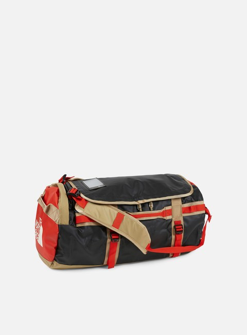 accessori the north face base camp duffel medium fiery red tnf black