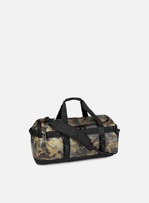 accessori the north face base camp duffel medium new taupe green macrofleck camo print tnf black