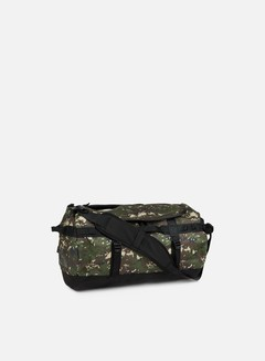 The North Face - Base Camp Duffel Small, Burnt Olive Green Digi Camo/TNF Black