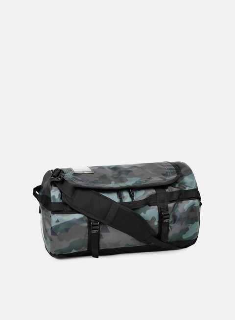 accessori the north face base camp duffel small camo print tnf black