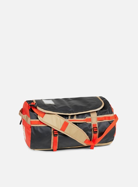 accessori the north face base camp duffel small fiery red tnf black