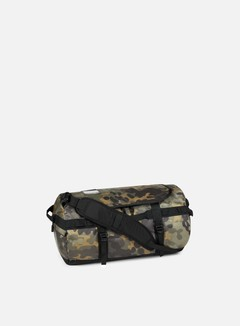 The North Face - Base Camp Duffel Small, New Taupe Green Macrofleck Camo Print/TNF Black