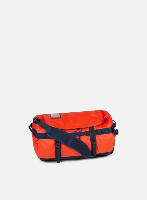 accessori the north face base camp duffel small punch orange urban navy