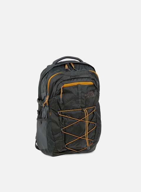 accessori the north face borealis backpack asphalt grey citrine yellow