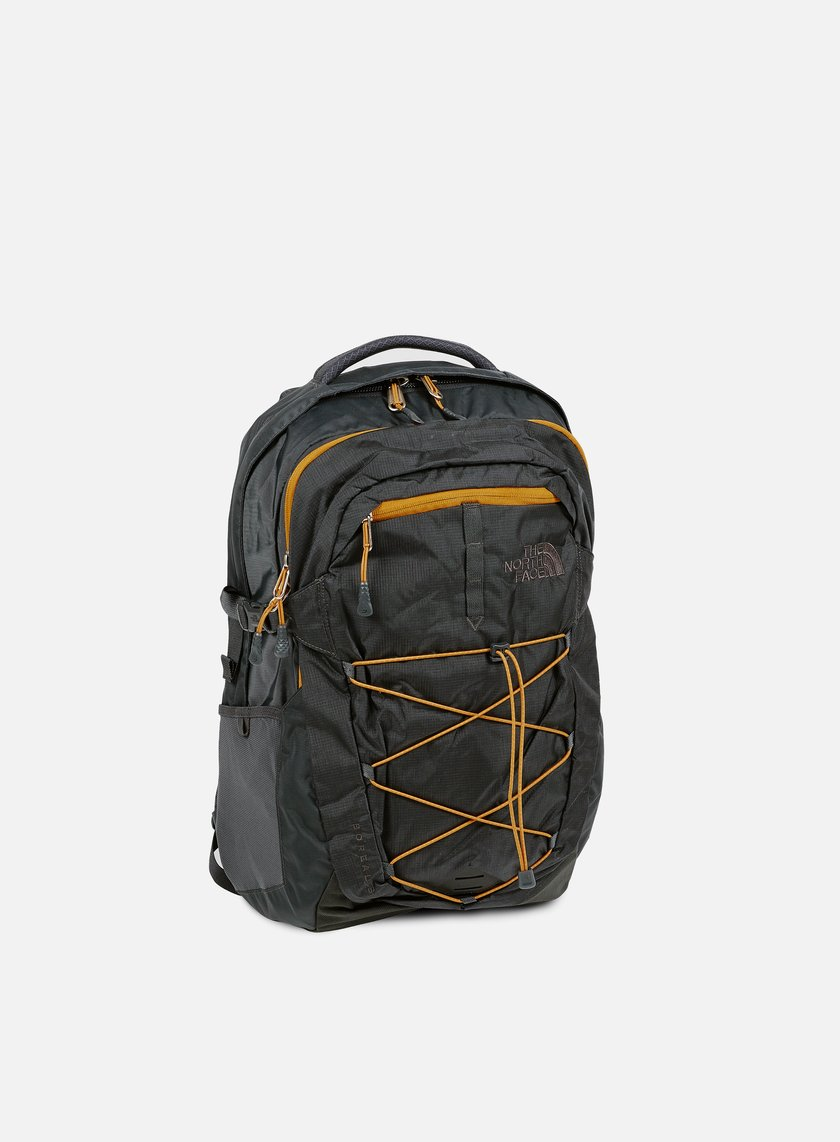 The North Face - Borealis Backpack, Asphalt Grey/Citrine Yellow