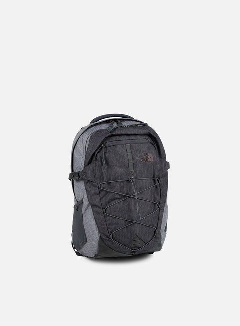 accessori the north face borealis backpack tnf dark grey heather tnf medium grey heather