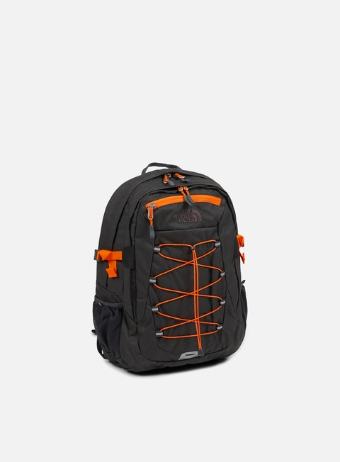 accessori the north face borealis classic backpack asphalt grey dark heather exuberance orange