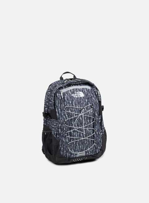 accessori the north face borealis classic backpack high rise grey feather leaf print asphalt grey