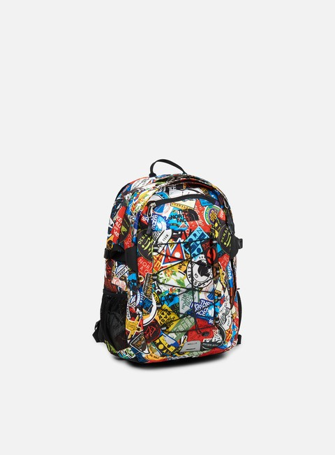 accessori the north face borealis classic backpack tnf red sticker bomb print tnf black