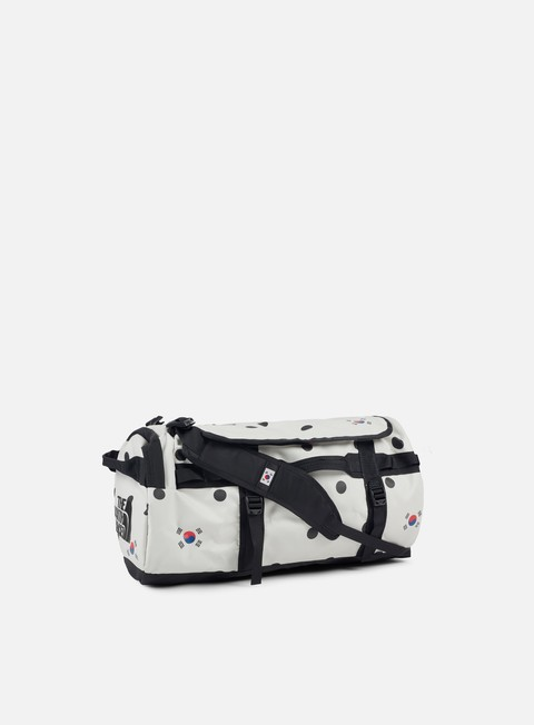 accessori the north face international base camp duffel medium vapour grey dot print