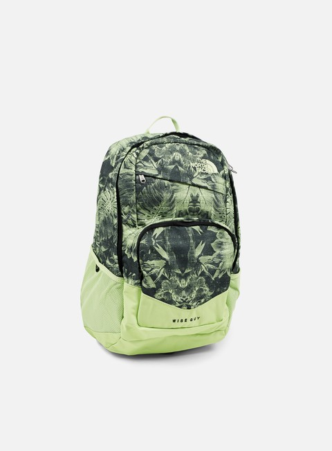 accessori the north face wise guy backpack dark cedar green palm print