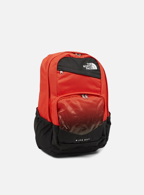 accessori the north face wise guy backpack fiery red high rise grey