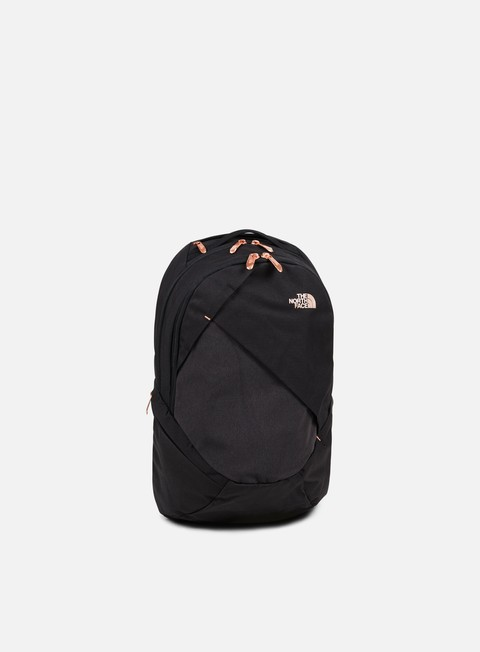 accessori the north face wmns isabella backpack tnf black heather burnt coral metallic