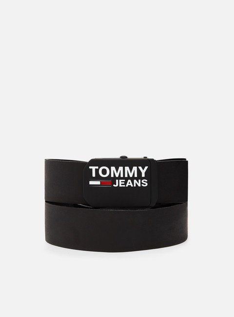 Sale Outlet Belts Tommy Hilfiger TJ Plaque Leather Belt 4