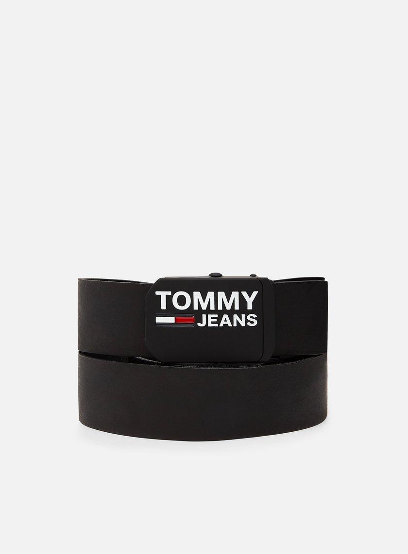 Tommy Hilfiger TJ Plaque Leather Belt 4