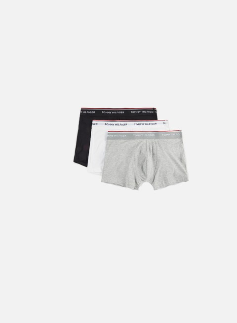 accessori tommy hilfiger underwear premium essentials trunk 3 pack grey heather white black