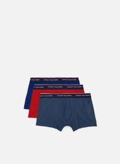 Tommy Hilfiger Underwear - Premium Essentials Trunk 3 Pack, Insignia/Tango Red