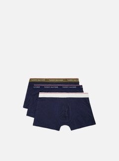 Tommy Hilfiger Underwear - Premium Essentials Trunk 3 Pack, Olive Night/Peacoat