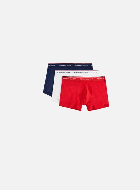 accessori tommy hilfiger underwear premium essentials trunk 3 pack tango red peacoat white