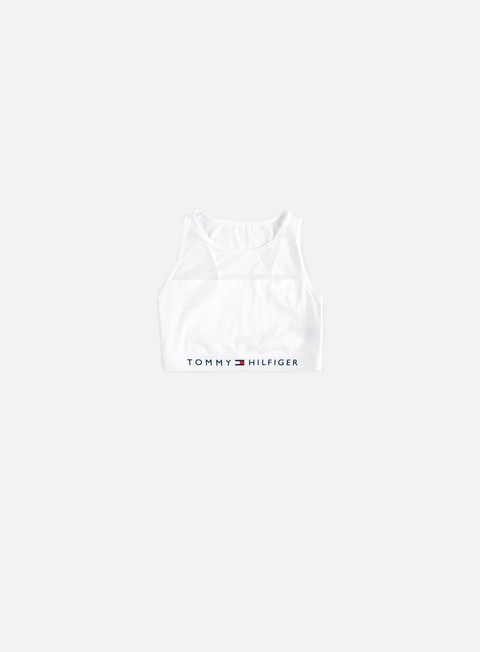 accessori tommy hilfiger underwear wmns sheer flex cotton bralette white