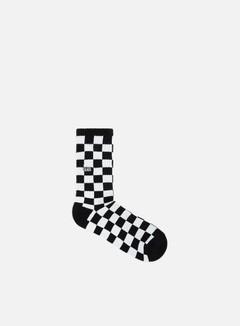 Vans - Checkerboard Crew Socks, Black/White