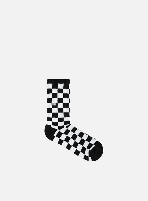 accessori vans checkerboard crew socks black white