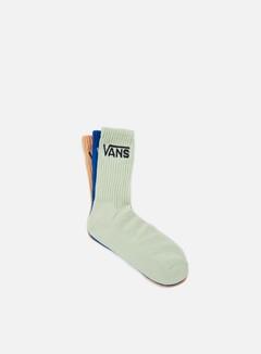 Vans - Classic Crew 3 Socks, Blue/Apricot