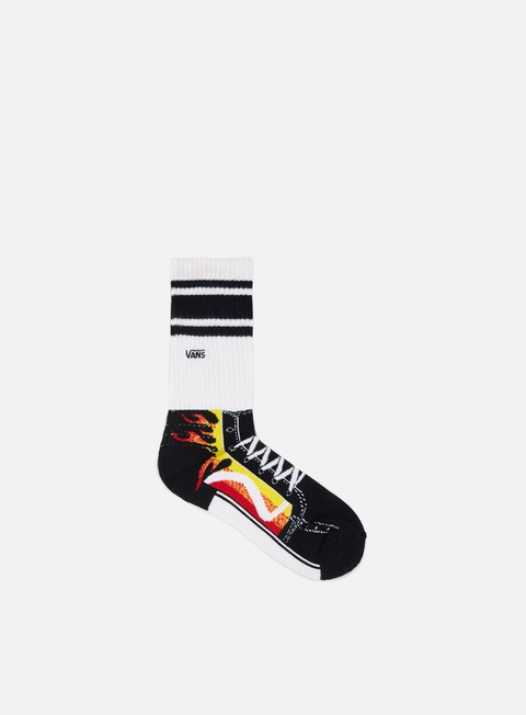 accessori vans flame sk8 hi crew socks flame