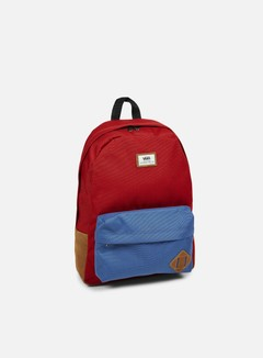 Vans - Old Skool II Backpack, Red Dahlia Colorblock 1