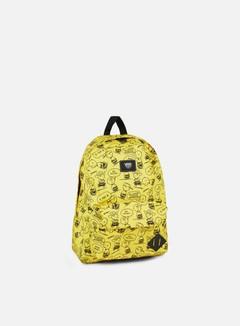 Vans - Peanuts Old Skool II Backpack, Charlie Brown Yellow
