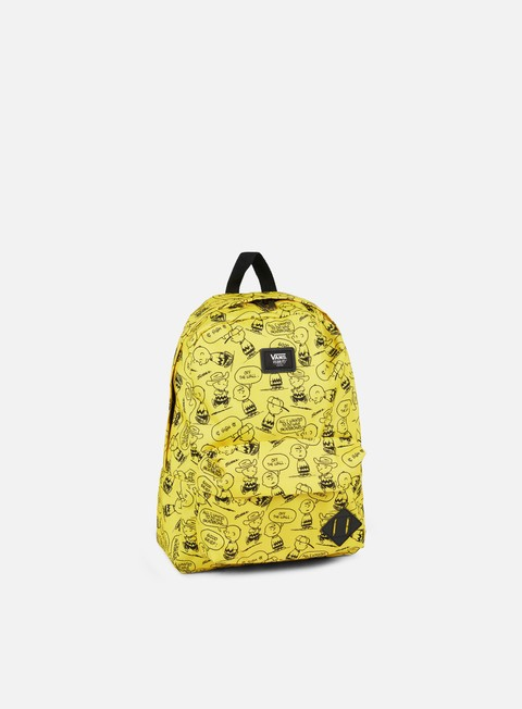 accessori vans peanuts old skool ii backpack charlie brown yellow