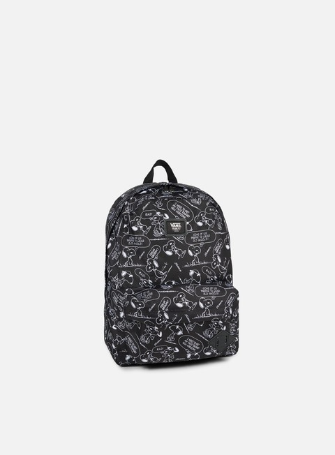 accessori vans peanuts old skool ii backpack snoopy black