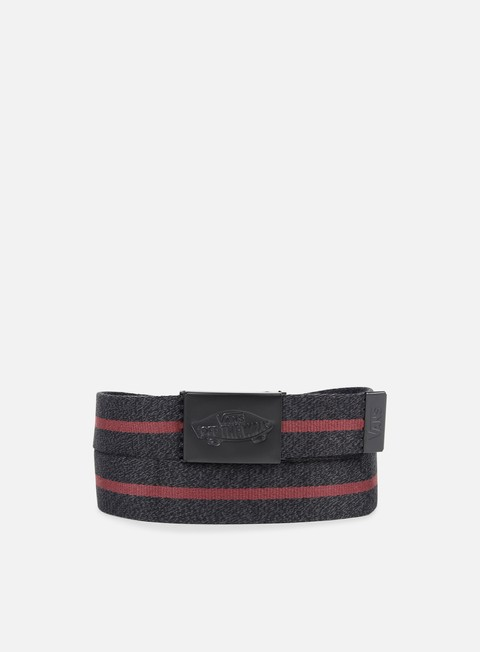 accessori vans shredtor ii web belt black heather port royale