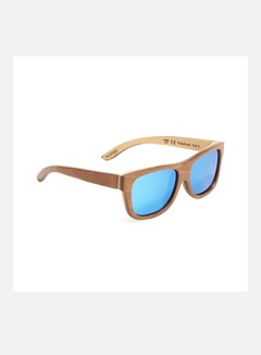 Wood Fellas - Tanjung, Brown/Natural/Blue Mirror