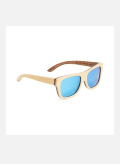 Wood Fellas - Tanjung, Natural/Brown/Blue Mirror 1