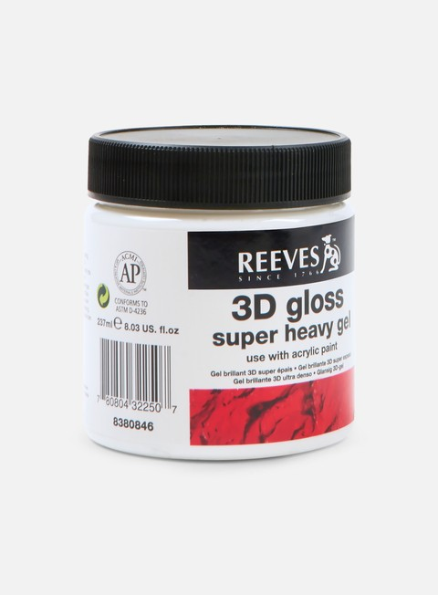 art tools reeves gel brillante 3d molto denso 237 ml
