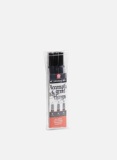 Calligraphy Brush Pens & Markers Sakura Pigma Calligrapher Set 3 pz