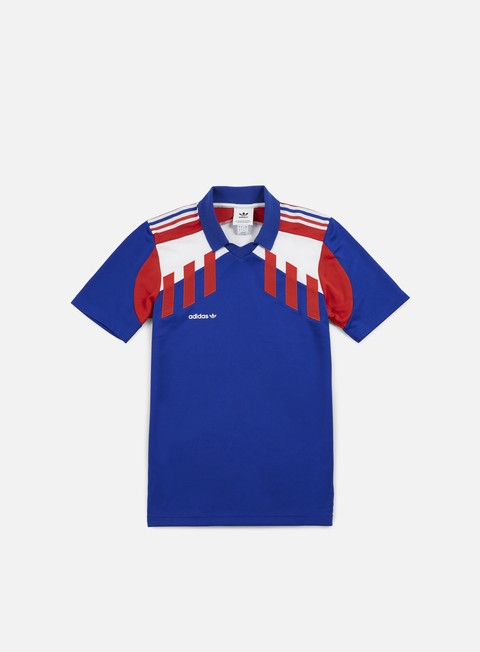 camicie adidas originals tri colore jersey bold blue