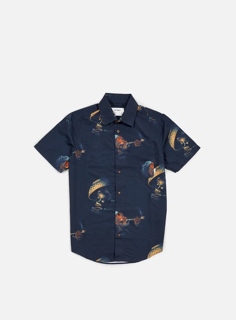camicie altamont erik brunetti opiate ss woven shirt black