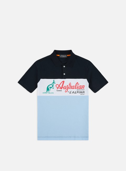 Short Sleeve Shirts Australian Piquet Maxi Logo Polo Shirt