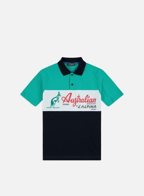 Camicie a Manica Corta Australian Piquet Maxi Logo Polo Shirt