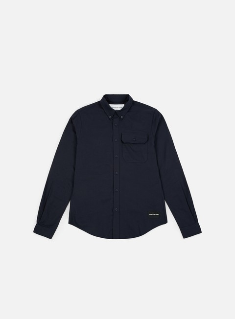 camicie calvin klein jeans button down classic ls shirt night sky
