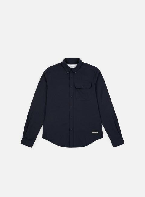 Outlet e Saldi Camicie a Manica Lunga Calvin Klein Jeans Button Down Classic LS Shirt