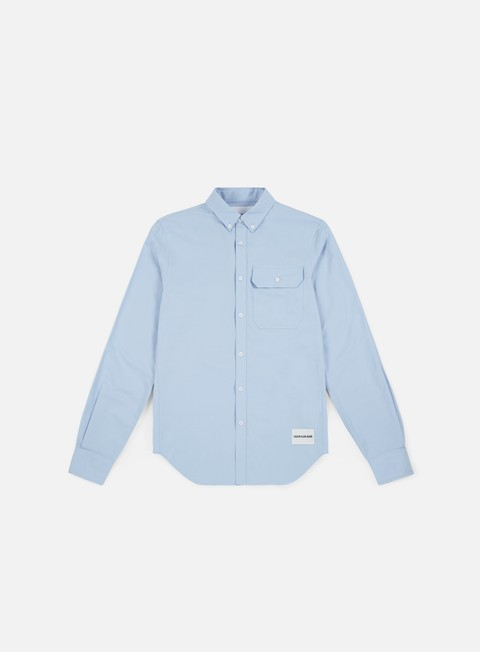 camicie calvin klein jeans button down classic ls shirt sky blue