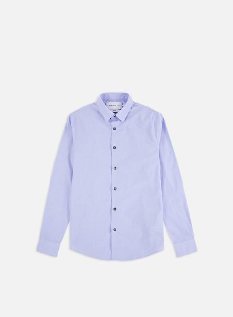 Outlet e Saldi Camicie a Manica Lunga Calvin Klein Jeans CK Dobby Stretch LS Shirt