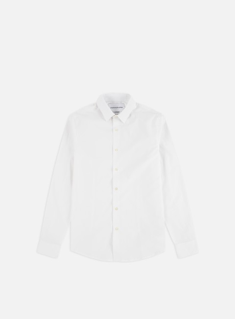Camicie a Manica Lunga Calvin Klein Jeans CKJ Logo Slim Strech Shirt