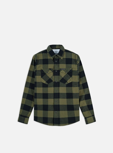 Long Sleeve Shirts Calvin Klein Jeans Flannel Western Check Regular Shirt